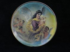 Vintage Plate: Guardian Angel Hand Decorated by GeorgiasVictorian
