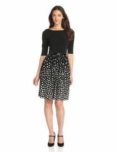 Jessica Howard Women's 3/4 Sleeve Belted Shirred Skirt Dress, Black, 16 Jessica Howard,http://www.amazon.com/dp/B00CLCZL04/ref=cm_sw_r_pi_dp_wtfCsb0MXHEJ117T