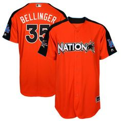 National League Dodgers Cody Bellinger Majestic Orange 2017 MLB All-Star Game Home Run Derby Player Jersey