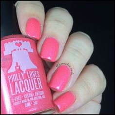 Rock On, Harriet! Hella Holo Custom for Breast Cancer Awareness | Philly Loves Lacquer