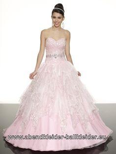Farbiges Brautkleid Abendkleid Ballkleid in Rosa