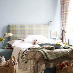 Tartan Bed Head and Curtains: Tartan: Decorating Ideas: Interiors