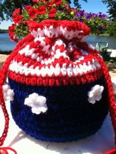 """Lakeview Cottage Kids: """"Stars and Stripes"""" Crochet Purse! FREE Pattern! Happy 4th of July!!!"""