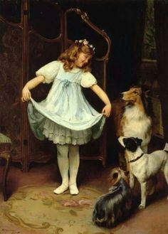 El vestido nuevo, Arthur John Elsley (1860-1952). via Arte XIX FB