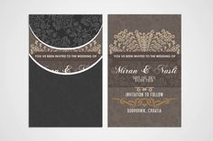 Wedding Invitation by Graphicalark on Creative Market