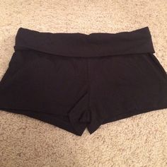 Black yoga shorts. Brand new, never worm!! These black yoga shorts are brand new and have never been worn!! Shorts