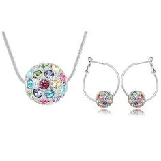 Austrian Crystal Set - Colorful ball ( Color ) 6377