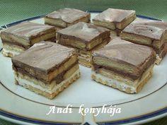 Tejfölös - kekszes - Andi konyhája - Sütemény és ételreceptek képekkel Tiramisu, Delish, Food And Drink, Sweets, Cookies, Cake, Ethnic Recipes, Desserts, Sweet Pastries