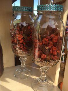 Redneck mason jar with bling lid  https://www.etsy.com/shop/BucksBarnWorks