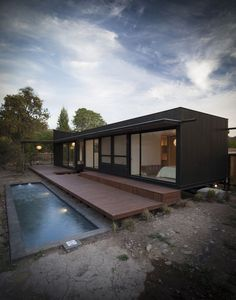Container House - Container House - shipping container pool with wooden deck More build-acontainerh. - Who Else Wants Simple Step-By-Step Plans To Design And Build A Container Home From Scratch? Shipping Container Home Designs, Container Design, Shipping Containers, Metal Containers, Shipping Container Office, Building A Container Home, Container House Plans, Container Cabin, Cargo Container