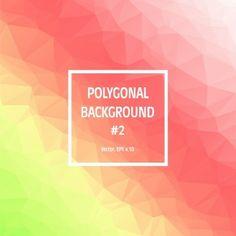 Polygonal Gradient Colors Background