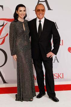 Julianna Margulies wearing CFDA Vice President Michael Kors' design