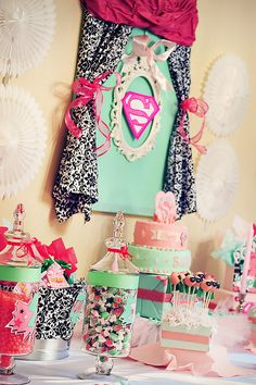 PINK Supergirl Party {Joint Birthday}