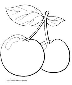 Here are the Beautiful Cherry Drawing Coloring Page. This post about Beautiful Cherry Drawing Coloring Page was posted under the Coloring Pages . Vegetable Coloring Pages, Fruit Coloring Pages, Coloring Book Pages, Free Coloring, Coloring Pages For Kids, Kids Coloring, Cherry Drawing, Fruits Drawing, Free Printable Coloring Pages