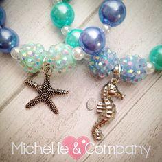 Beautiful NEW blue & aqua Under the Sea bracelets...