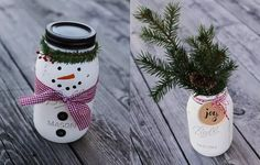 Spread the Holiday cheer with your own DIY Christmas mason jars. Quick tips and tricks to make the perfect gift or table decoration!