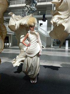Portfolio Peter Gentenaar paper dress