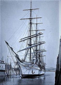 Clipper Ship 'Valhalla' in port.