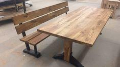30 oktober 2016 verscheen deze set bij VT wonen op SBS6.Deze stoere eettafel met bank zijn door de meubelmakers van Concept Table ontworpen en gemaakt.