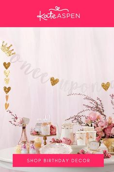 Bring a touch of fantasy into your celebration with this princess party banner! Your princess party dreams will be complete. | Princess Party Banner | Kate Aspen Kate Aspen, Princess Party, Bring It On, Banner, Birthday Parties, Banner Stands, Anniversary Parties, Birthday Celebrations, Banners