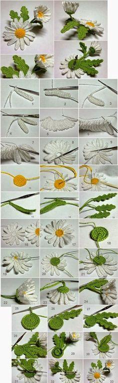 daisy flower crochet