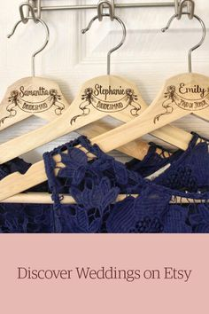 Custom engraved hangers for brides & the whole tribe. Shop unique wedding ideas on Etsy.