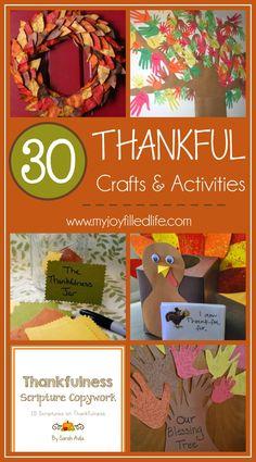 30 Thankful Crafts & Activities