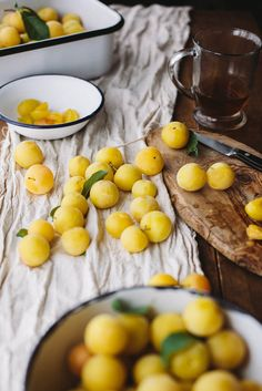 So many gorgeous plums - use the ingredient in your photography with a combination of soft textures (linen) and hard ones (wood and bowls) - make it messy!