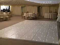 Dazzle your guests with our beautiful White LED Dance Floor, still available for some dates in 2017!  www.alfrescohire.co.uk 01279 870998  #events #wedding #dancefloor #dance #hire #sparkle