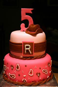 Cowgirl Party Cakes