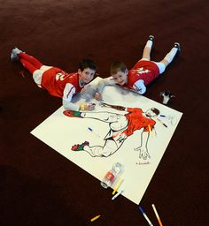 61a6dc763 Two JGs creating some great artwork. #arsenal London Colney, Arsenal Fc,  Pitch