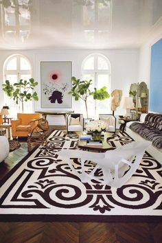 Barry Dixon. Notice the gloss on the ceiling and of course that rug!! — #interiordesign. Brought to you by SunGoddess Magazine: Igniting the Powerful Goddess WIthin http://sungoddessmagazine.com