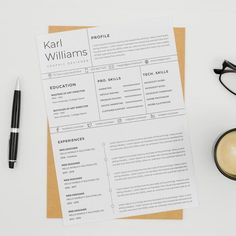 Creative resume template and cover letter Modern resume | Etsy