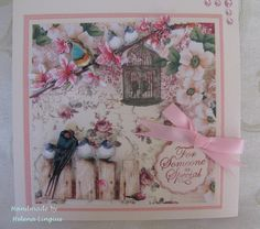 Birds on a branch Megs Garden Papers and 3D handmade embellishments from Porta Craft