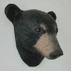 Paper art (paper maché bear) | Do Not Iron