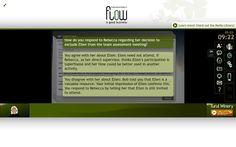 FLIGBY screen Simulation Games, User Interface, Assessment, Screens, Workplace, Leadership, Flow, Good Things, Teaching