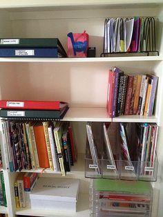 Tips to get storage shelves organized http://planningwithkids.com/2012/04/26/home-organisation-4-tips-for-handling-family-paperwork/