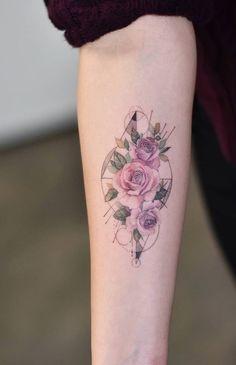 Pin by hal on tattoos flower tattoos, tattoos, body art tattoos. Cool Small Tattoos, Trendy Tattoos, Popular Tattoos, Unique Tattoos, Beautiful Tattoos, Amazing Tattoos, Tattoo Small, Colorful Tattoos, Rose Tattoos