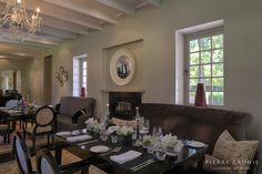 The Camphors restaurant at Vergelegen in Somerset West, South Africa. Interior design by Christiaan Barnard, solid wood furnishings and shopfitting by Pierre Cronje Decor, Furniture, Interior Decorating, Interior, Home, Decor Design, Fine Furniture, Interior Design, Furnishings
