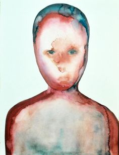 "Julius Redillas; Watercolor, 2012, Painting ""Blue Skinned"""