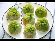 Colourful Dim Sum Recipe! Chicken and Spinach Dumpling with a Spinach Wrapper | Pop and Wok - YouTube