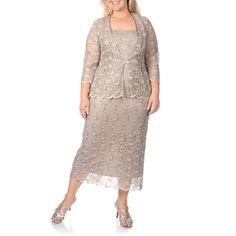 R & M Richards Women's Plus Sequin Lace 2-piece Jacket Dress - Overstock™ Shopping - The Best Prices on R & M Richards Plus Size Sets