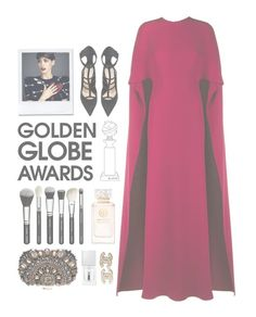 """""""Golden Globe // Anne Hathaway"""" by couturebae ❤ liked on Polyvore featuring Valentino, Barbara Bui, Lipsy, Tory Burch, Givenchy and Chanel"""
