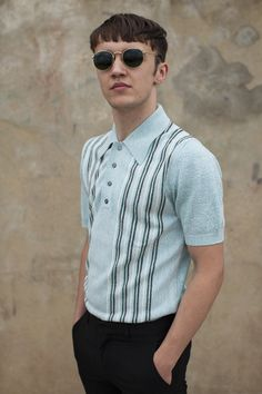 Brighton Mod Weekender 2015 1960 Mens Fashion, Mod Fashion, Urban Fashion, Best Polo Shirts, Polo Shirt Style, British Style Men, Smart Casual Men, Vintage Hawaiian Shirts, Mens Trends