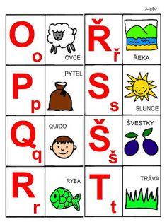 Pro Šíšu: Abeceda - prirazovani obrazku Montessori, Language, Logos, Christmas Decor, Detail, Educational Activities, Alphabet, Second Grade, Autism
