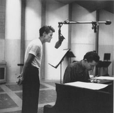 Chet Baker and Russ Freeman in Radio Recorders Studio B - 1954