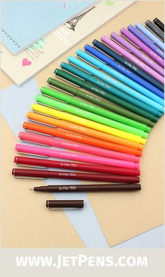 The popular micro-tipped Marvy Le Pen Marker Pen is now available in 6 flourescent colors, including violet, green, and pink.