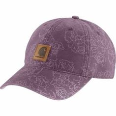 Carhartt Women's Purple Canvas Printed Hat