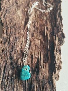 Kingman Turquoise Nugget  Sterling Silver Necklace by OxbowStudio