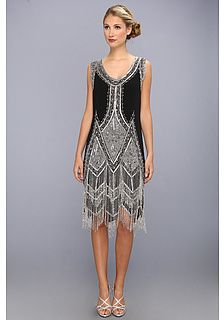 Unique Vintage Beaded and Embroidered Reproduction Flapper Dress
